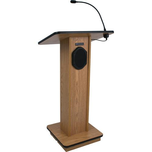 AmpliVox Sound Systems Elegant Wood Elite Lectern S355-WT