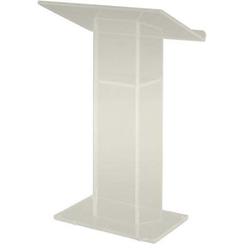 AmpliVox Sound Systems Large Top Frosted Acrylic Lectern
