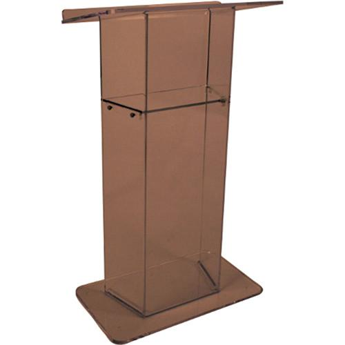 AmpliVox Sound Systems Smoked Acrylic Lectern SN305020