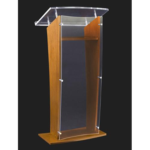 AmpliVox Sound Systems Wood and Clear Acrylic Floor SN350006