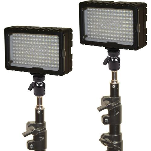 Bescor LED-125 Daylight Studio 2 Light Kit LED-125K
