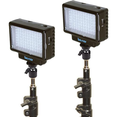 Bescor LED-70 Daylight Studio 2 Light Kit LED-70K