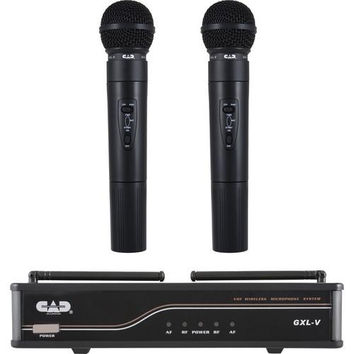 CAD VHF Dual Channel Handheld Wireless Microphone GXLVHH-H