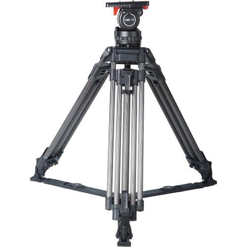 CAME-TV 18T PRO Carbon Fiber 100mm Fluid Head Tripod CAME-18T