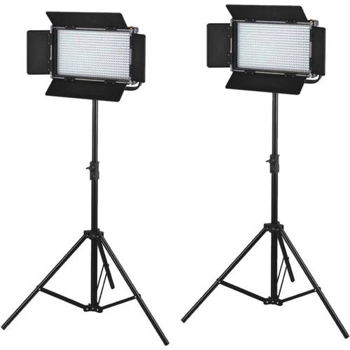 CAME-TV 576 Bi-Color LED 2 Light Kit with V-Mounts L576S2 Q75