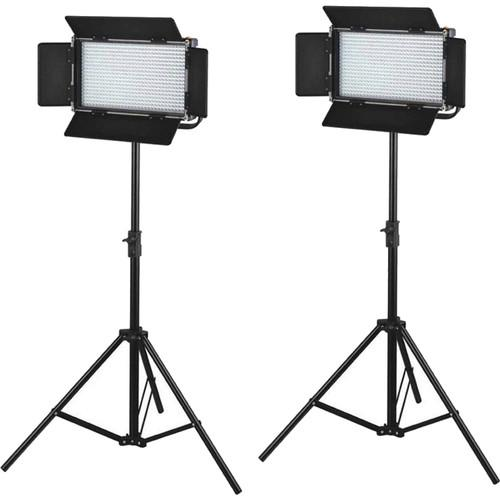 CAME-TV 576 Daylight LED 2 Light Kit with V-Mounts L576D2 Q75