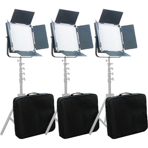 CAME-TV High CRI Digital 900 Daylight LED 3 Light Kit L900D3