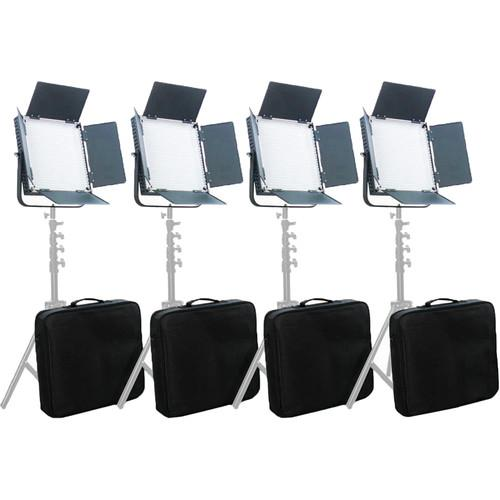 CAME-TV High CRI Digital 900 Daylight LED 4 Light Kit L900D4