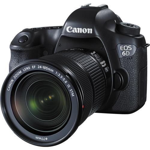 Canon EOS 6D DSLR Camera with 24-105mm f/3.5-5.6 STM Lens and