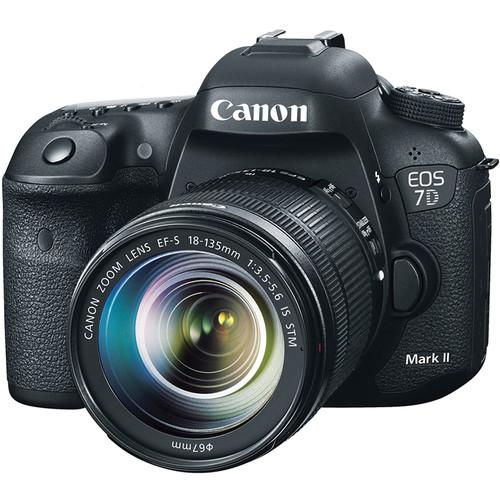 Canon EOS 7D Mark II DSLR Camera with 18-135mm Lens and Storage