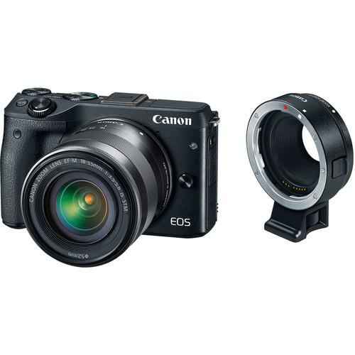 Canon EOS M3 Mirrorless Digital Camera with 18-55mm Lens, Lens