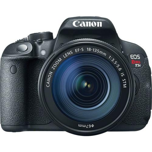 Canon EOS Rebel T5i DSLR Camera with 18-135mm and 55-250mm