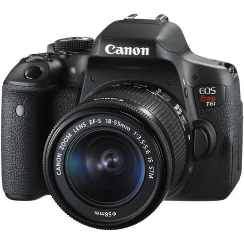Canon EOS Rebel T6i DSLR Camera with 18-55mm and 55-250mm