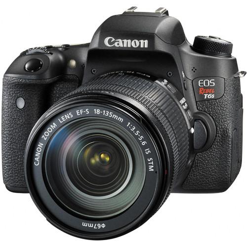 Canon EOS Rebel T6s DSLR Camera with 18-135mm and 55-250mm