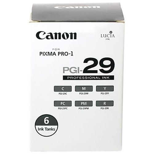 Canon PGI-29 Six-Color Ink Cartridge Set 4873B009