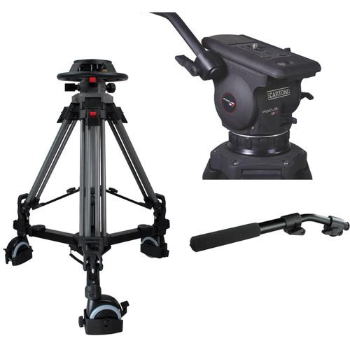 Cartoni Pedestal with Focus 12 Head, 2 Pan Bars, 100mm P2F12