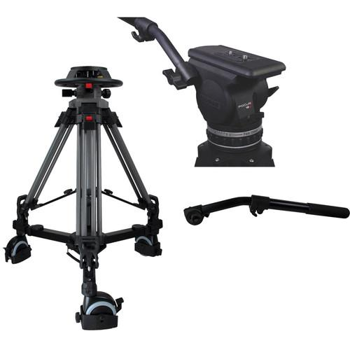 Cartoni Pedestal with Focus 18 Head, 2 Pan Bars, 100mm P2F18