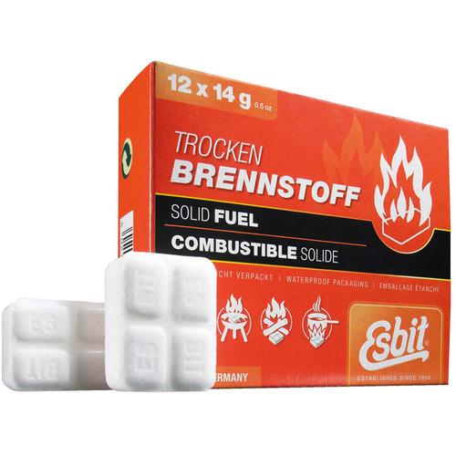 Esbit Solid 14 Gram Fuel Tablets (12-Pack) E-FUEL-12X14