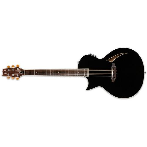 ESP LTD Thinline Series TL-6 Acoustic/Electric Guitar LTL6BLKLH