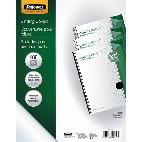 Fellowes  Crystals Clear PVC Binding Covers 52089