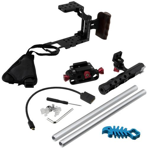 FotodioX Sharkcage Protective Handheld Rig SHRKCGE-GH4-BLCK-ONLY