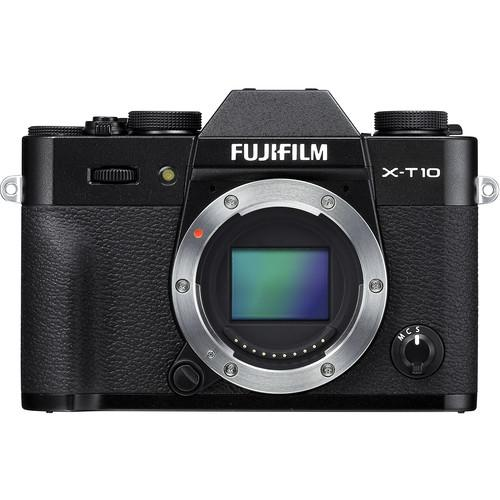 Fujifilm X-T10 Mirrorless Digital Camera Body Basic Kit (Black)
