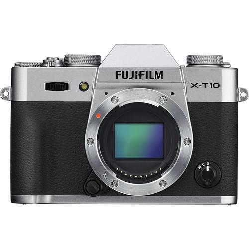 Fujifilm X-T10 Mirrorless Digital Camera Body Basic Kit (Silver)