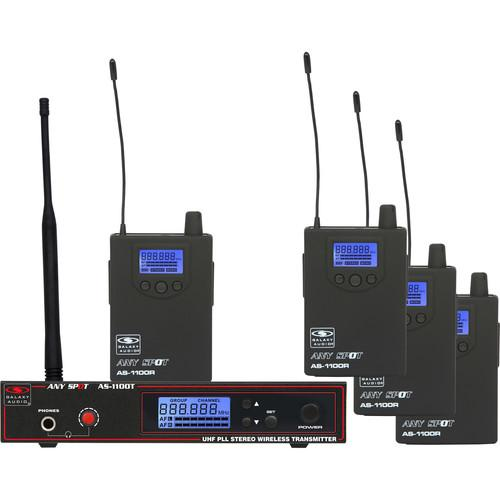 Galaxy Audio AS-1100-4N 4-User Wireless Personal AS-1100-4N