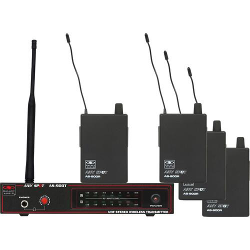 Galaxy Audio AS-900 Any Spot Series 4-User Wireless AS-900-4N1