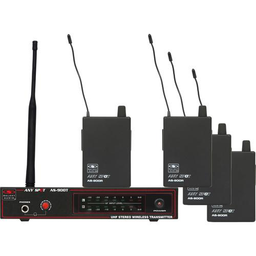 Galaxy Audio AS-900 Any Spot Series 4-User Wireless AS-900-4N4