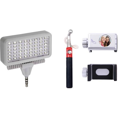 Looq Battery-Free Selfie Stick and LED Light Kit for iOS