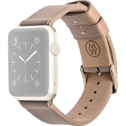 MONOWEAR Beige Leather Band for 38mm Apple Watch MWLTBE20MTYG