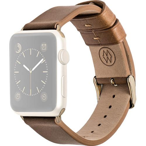 MONOWEAR Brown Leather Band for 38mm Apple Watch MWLTBR20MTYG