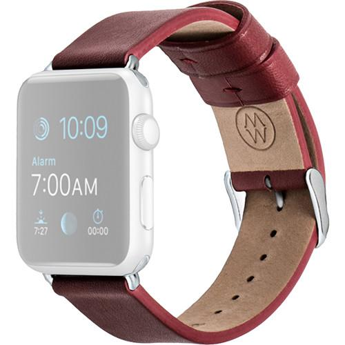 MONOWEAR Red Leather Band for 42mm Apple Watch MWLTRD22MTDG