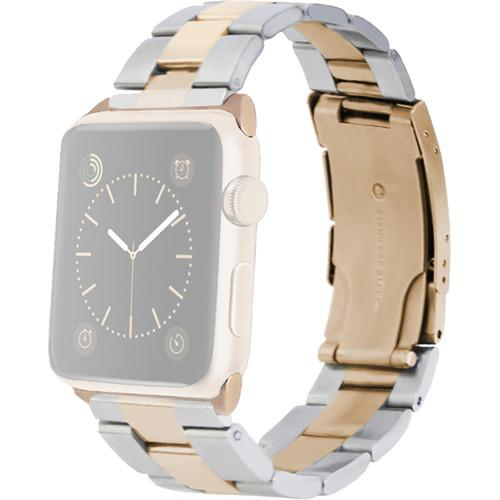 MONOWEAR Yellow Gold Metal Band for 42mm Apple MWMLYG22MTYG