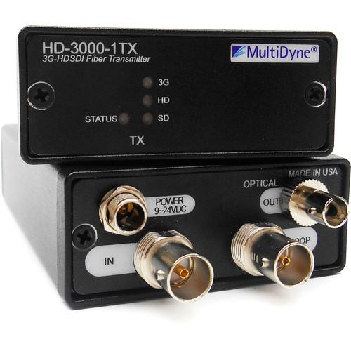 MultiDyne 3 Gbps Multi-Rate Serial Digital Video HD-3000-1RX-ST