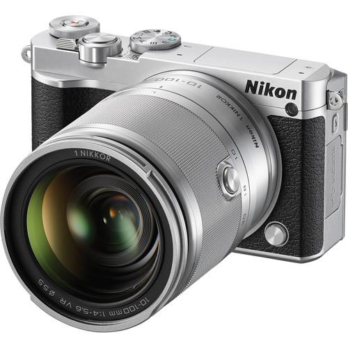 Nikon 1 J5 Mirrorless Digital Camera with 10-100mm Lens Deluxe