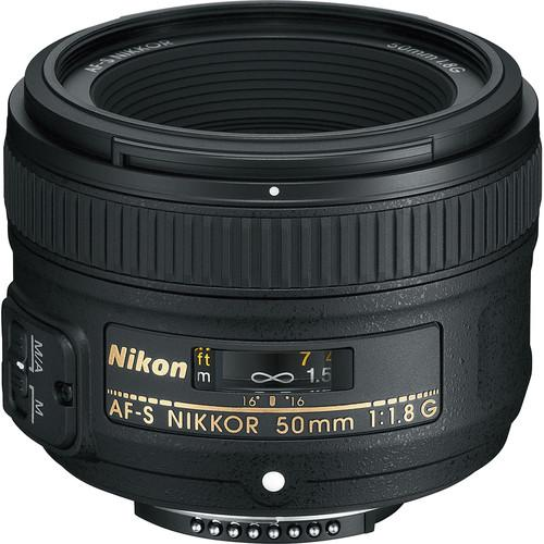Nikon AF-S NIKKOR 50mm f/1.8G Lens (Open Box) 2199