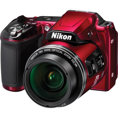 Nikon COOLPIX L840 Digital Camera with Accessories Kit (Red)