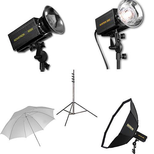 Novatron M300 / M500 2-Monolight Kit with Umbrella and N2645KIT