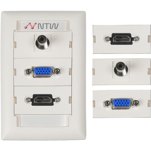 NTW  Customizable UniMedia Wall Plate NUNC-V35H