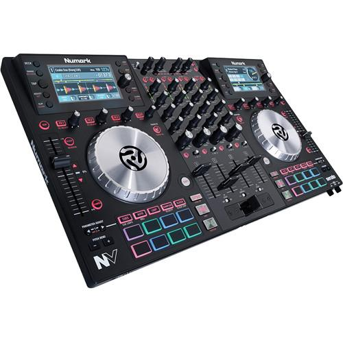 Numark NV DJ Controller Kit with Case, Cover, Headphones,
