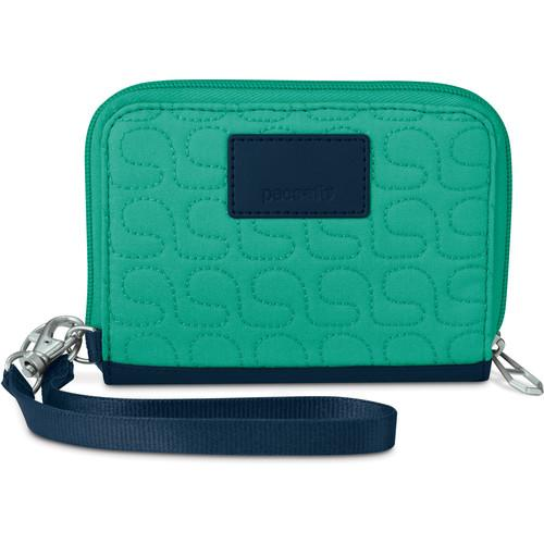 Pacsafe RFIDsafe W100 RFID Blocking Wallet (Lagoon) 10710615