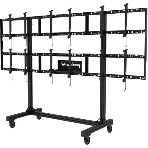 Peerless-AV Portable Video Wall Cart for 46 to DS-C555-3X2