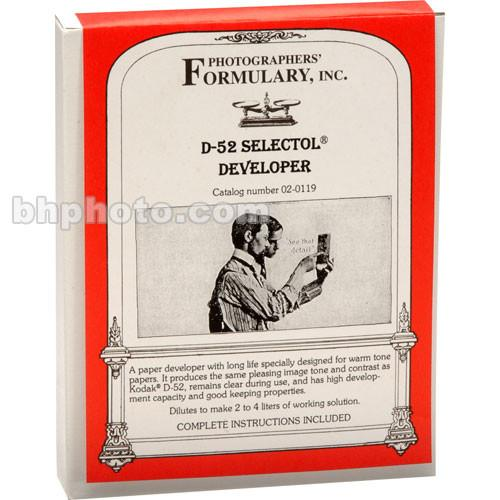 Photographers' Formulary D-52 Selectol Developer 02-0119