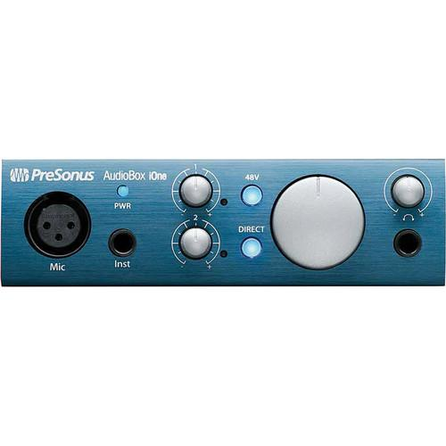 PreSonus AudioBox iOne Interface with Eris E4.5 Speakers Studio
