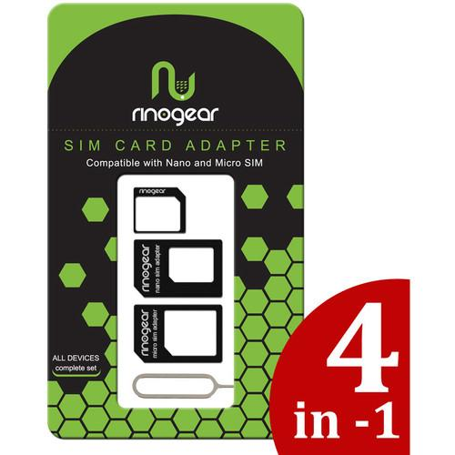 RinoGear 4-in-1 Nano and Micro SIM Card Adapter SIMCARDADAPTER