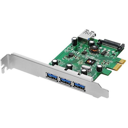 SIIG DP USB 3.0 4-Port PCIe i/e Adapter Card JU-P40212-S1