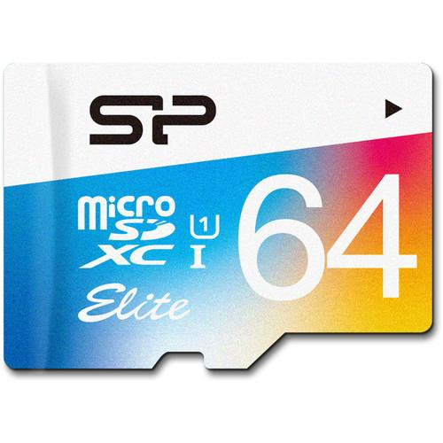 Silicon Power 64GB Elite UHS-I microSDXC SP064GBSTXBU1V20SP