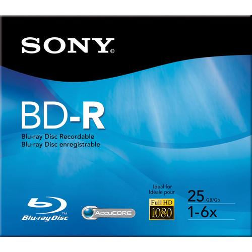 Sony  25 GB BD-R Recordable Disc BNR25R3H/2